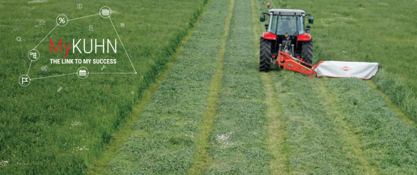 MyKUHN Homepage Banner with a KUHN GMD 24 Mower